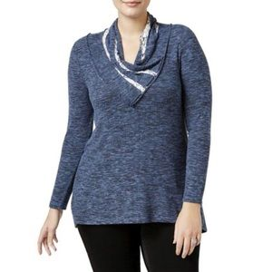 NWT Plus Size Cowl Neck Lightweight Sweater